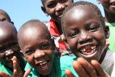 Aoshima accampamento - villaggio, uganda, africa — Foto Stock