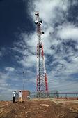 Cellphone Signal Tower - Abela Rock, Uganda, Africa — Stock Photo