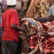 Meat Market, Tanzania — Stock Photo