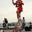 Stock Photo: Street Performer - YokohamCity, Japan
