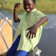 Poor Child - Abuket River, Uganda, Africa — Stock Photo