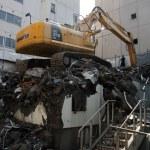 Digger Machine Landfill Sapporo, Japan — Stock Photo