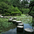 Stepping Stones - Heian Temple, Kyoto, Japan - Stock Photo