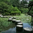 Stepping Stones - Heian Temple, Kyoto, Japan — Stock Photo