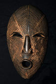 African Tribal Mask - Lega Tribe — 图库照片