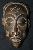 African Tribal Mask - Bayaka Tribe — Stock Photo