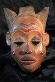 非洲部落面具-绿霸部落 — 图库照片