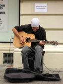 Guitarist Busking - Wellington Capital City, New Zealand — Stock Photo