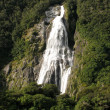 Waterfall - Milford Sound, Te Wahipounamu, New Zealand — Stock Photo