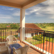 Luxury Hotel Room Balcony, Uganda, Africa — Stock Photo