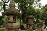 Standbeeld - sumiyoshi taisha schrijn, osaka, japan — Stockfoto