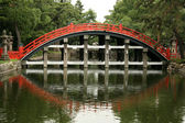 Bridge - Sumiyoshi Taisha Shrine, Osaka, Japan — Stock Photo