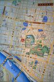 日本东京市浅草的地图 — 图库照片