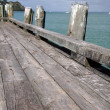 Wooden Dock - Rangitoto Island, New Zealand — Stock Photo