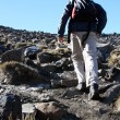 Hiking - Tongariro National Park, New Zealand — Stock Photo