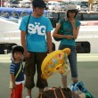Stock Photo: Tourist Family - Taketomi Island , Okinawa, Japan