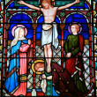 Stained Glass Window - Old St Paul's, Wellington, New Zealand - Foto Stock