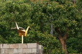 Gold Peace Dove - Peace Park, Nagasaki, Japan — Stock fotografie