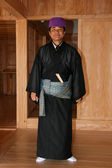 Traditional Japanese Clothed Man - Shuri Castle — Stock Photo
