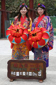 Traditional Japanese Women - Shuri Castle, Naha , Okinawa, Japan — Stock Photo