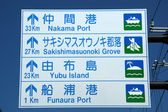 Sign Board - Iriomote Jima Island, Okinawa, Japan — Stock Photo