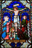 Stained Glass Window - Old St Paul's, Wellington, New Zealand — Stock fotografie