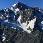 montañas cubiertas de nieve - Alpes del sur, Nueva Zelanda — Foto de Stock