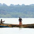 Fishing Boat - Wildlife Sanctuary - Uganda — Stock Photo