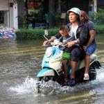Постер, плакат: BANGKOK THAILAND NOVEMBER 17 : Flooding in Bangkok Thailand