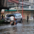 BANGKOK, THAILAND - NOVEMBER 17 : Flooding in Bangkok, Thailand — Stock Photo