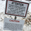 Warning Sign - Mt Roberts, Alaska, USA — Stockfoto