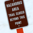 Warning Sign - Mt Roberts, Alaska, USA — Lizenzfreies Foto
