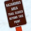 Stock Photo: Warning Sign - Mt Roberts, Alaska, USA