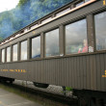 Исторический поезд - Скагуэй, Аляска, США — Стоковое фото