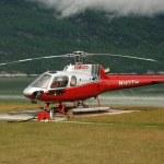 Helicopter Flight at Mendenhall Glacier, Alaska, USA — Stock Photo