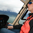 Helicopter Flight at Mendenhall Glacier, Alaska, USA — Lizenzfreies Foto
