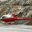 Stock Photo: Helicopter Flight at Mendenhall Glacier, Alaska, USA