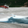 Helicopter Flight at Mendenhall Glacier, Alaska, USA — Stok fotoğraf