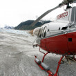 Helicopter Flight at Mendenhall Glacier, Alaska, USA — Foto Stock