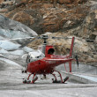 Helicopter Flight at Mendenhall Glacier, Alaska, USA — Zdjęcie stockowe