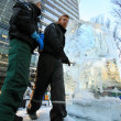Stock Photo: LONDON, UK - JANUARY 13 : Ice Sculpting Festival 2012