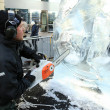 LONDON, UK - JANUARY 13 : Ice Sculpting Festival 2012 - Stock Photo