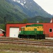 Historic Train - Skaguay, Alaska, USA — Stock Photo