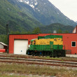 Stock Photo: Historic Train - Skaguay, Alaska, USA