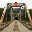 Bridge - Chilkoot Gold Mine Trail, Skagway, Alaska, USA — Foto Stock