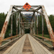 Bridge - Chilkoot Gold Mine Trail, Skagway, Alaska, USA — Стоковая фотография