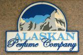Sign perfume company. Juneau, Alaska, USA — Stock Photo