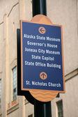 Street indicator. Juneau, Alaska, USA — Stock Photo