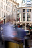 Busy Streets in Picadilly - London - UK — Stock Photo