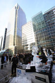 LONDON, UK - JANUARY 13 : Ice Sculpting Festival 2012 — Stock Photo